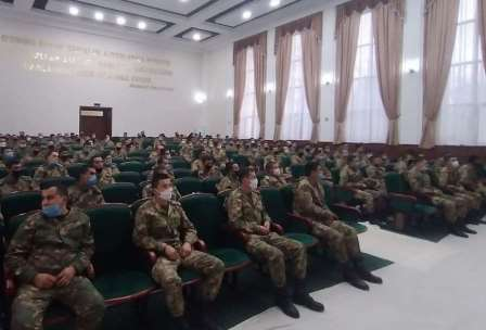 """A training on """"Healthy lifestyle is the key to a healthy future"""" was held in the military unit"""