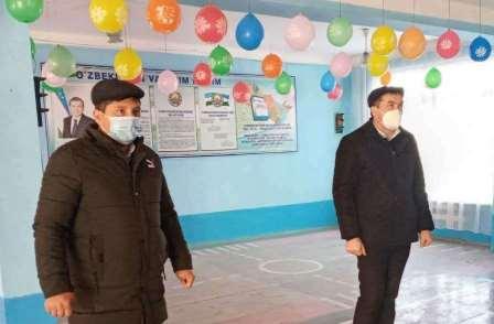Professors and teachers of Andijan State Medical Institute visited secondary schools in Kurgantepa district