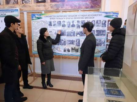 The students visited the Museum of Repression Victims.