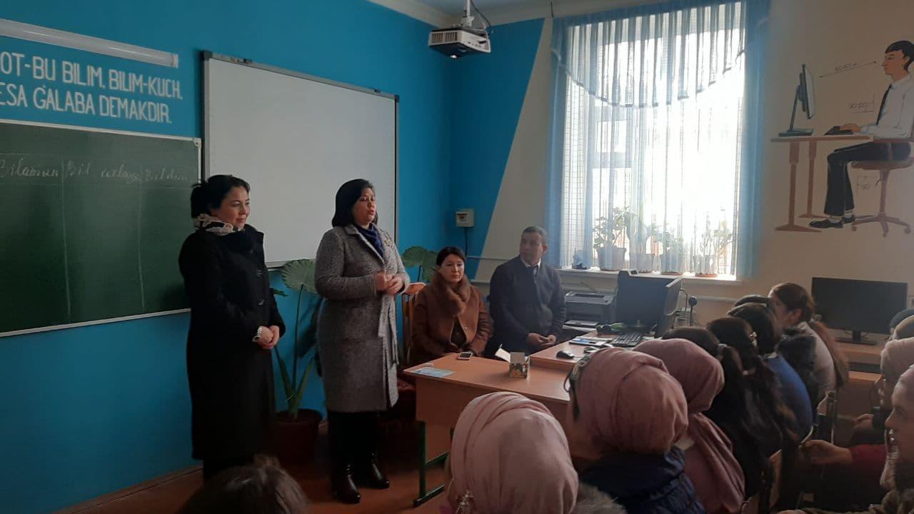О работе по сотрудничеству с прикреплёнными в АГМИ общеобразовательными школами