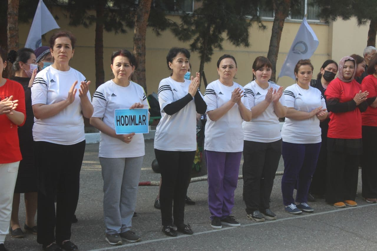 Female employees of our institute took part in volleyball competitions